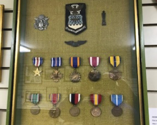 Medals awarded to Fleetwood resident CPT Richard Becker the first US Air Force jet ace in the Korean War