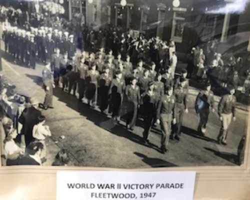 Parade of war veterans in Fleetwood PA